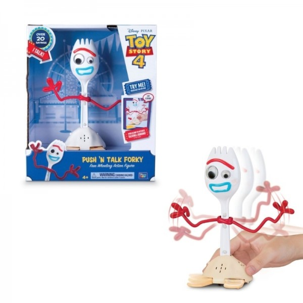 Toy Story 4 Push n Talk Forky Deluxe Talking 9″ Action Figure