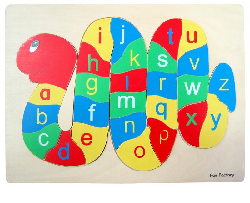 Fun Factory Wooden Puzzle Alphabet Snake