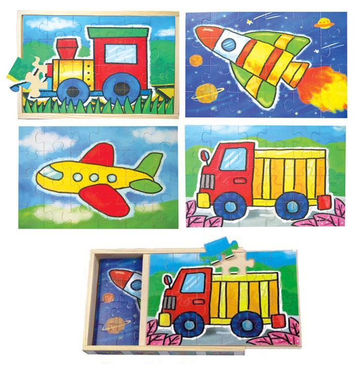 Jigsaw 4 in 1 Transport Puzzle