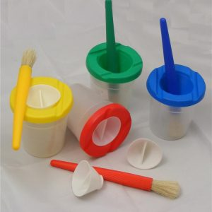 Spill Paint Pot and Paint Brushes