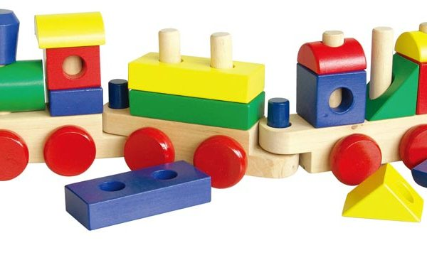 Wooden Stacking Train