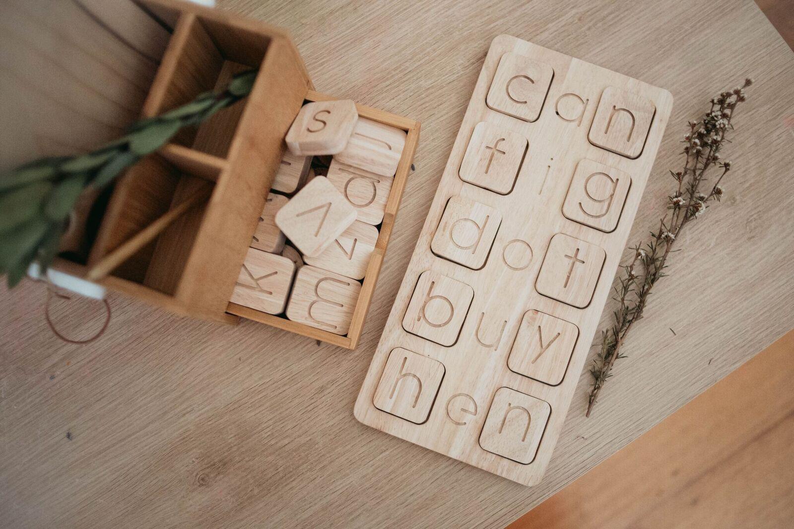 Wooden CVC Word Boards