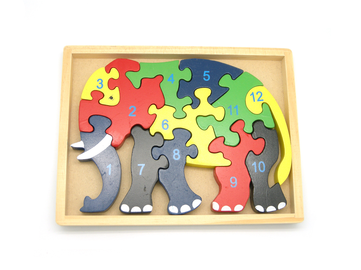 Number Elephant in Tray