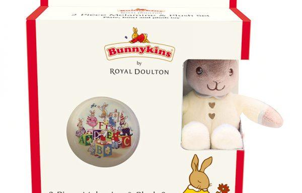 Bunnykins Plush Toy, Bowl & Plate Cream