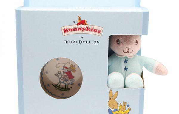 Bunnykins Plush Toy, Bowl & Plate Blue