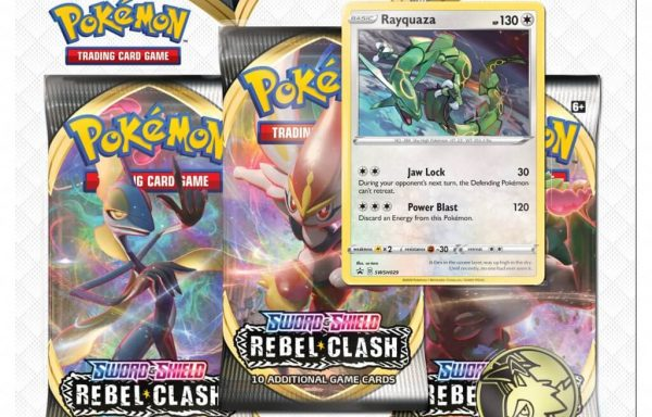 POKÉMON TCG Sword and Shield- Rebel Clash Three Booster Blister Rayquaza