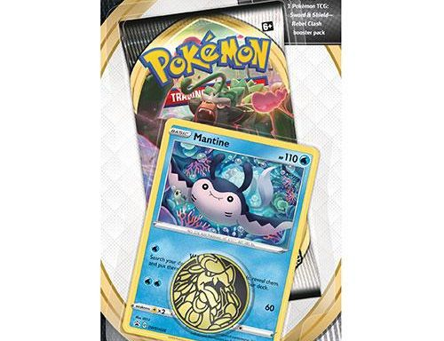 POKÉMON TCG Sword and Shield- Rebel Clash Checklane Blister Mantine