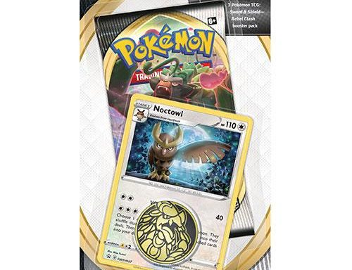 POKÉMON TCG Sword and Shield- Rebel Clash Checklane Blister Noctowl