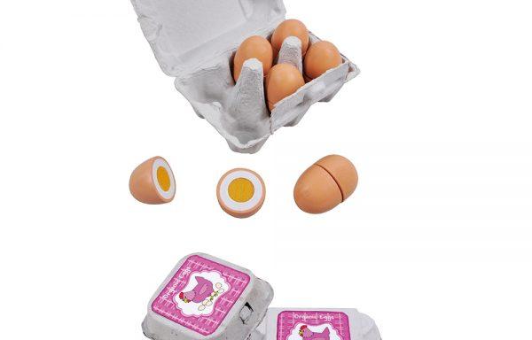 wooden eggs – halves