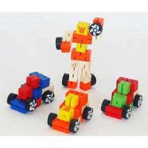 Mini Wooden Transformer