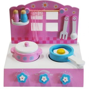 Wooden Stove Play Set