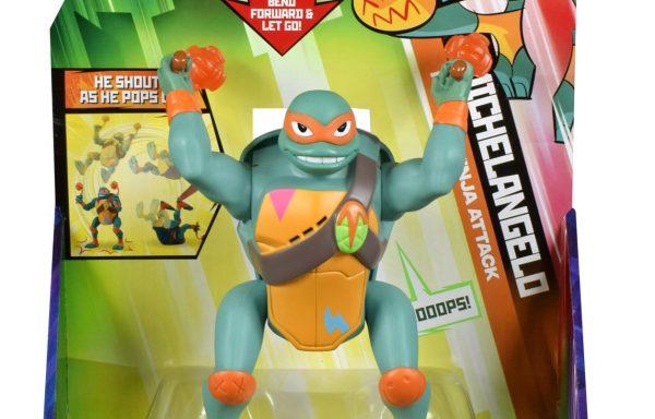 Rise Of The TMNT Deluxe Figures Michelangelo Back Flip Ninja Attack