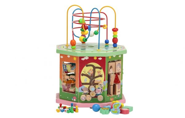 Wooden Bead Octagon With 10 Educational Games