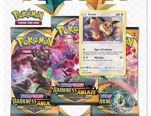 POKÉMON TCG Sword and Shield- Darkness Ablaze Three Booster Blister Eevee