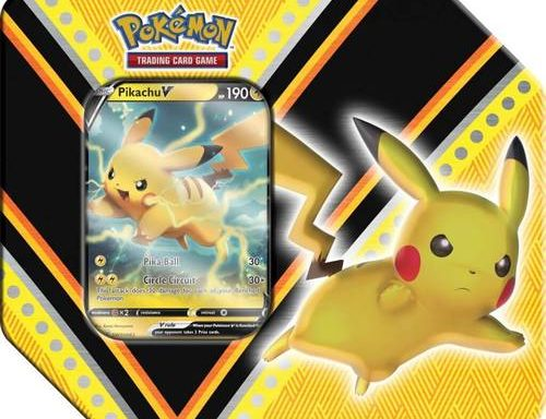 POKÉMON TCG V Powers Tin PikachuV