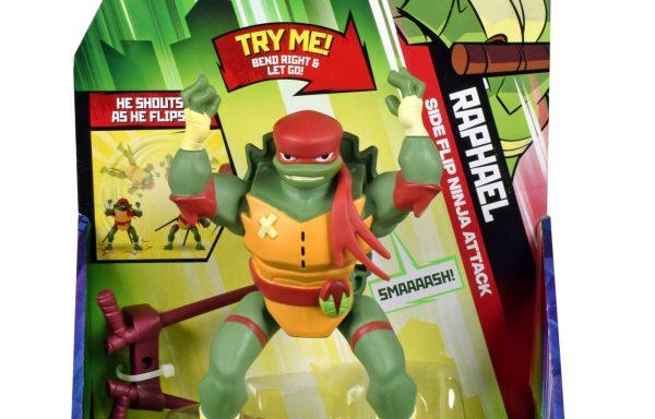 Rise Of The TMNT Deluxe Figures Raphael Back Flip Ninja Attack