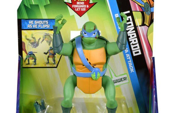 Rise Of The TMNT Deluxe Figures Leonardo Back Flip Ninja Attack