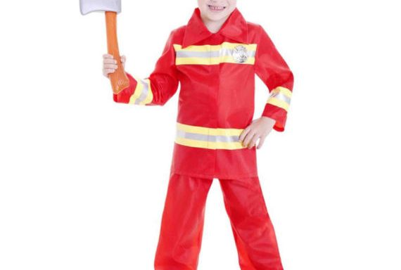 Deluxe Fireman Costume Small