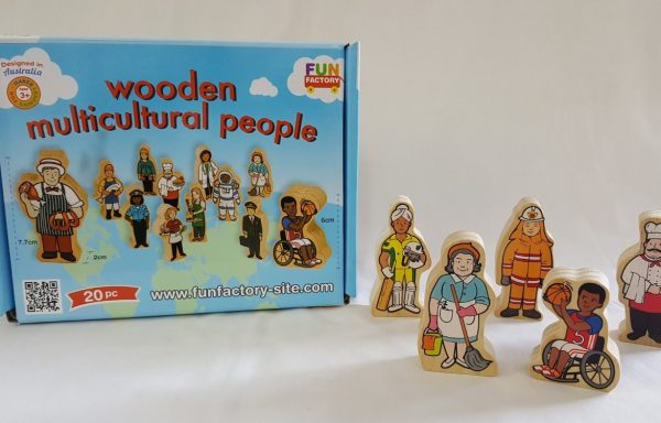 Wooden Multicultural Professional People Set of 20