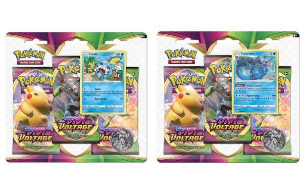 Pokemon TCG Vivid Voltage 3 Pack Blister – Both Variances