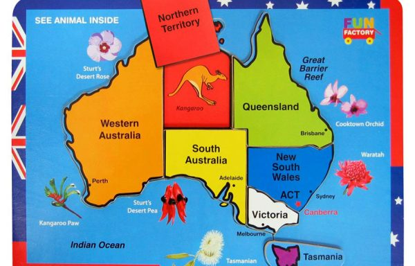 Puzzle Raised Australia Map