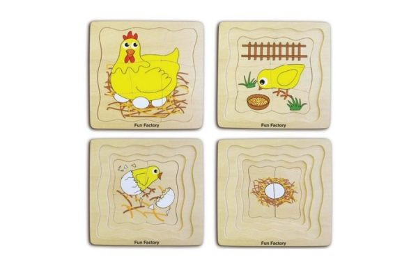 Chicken Life Cycles Layered Puzzle Set