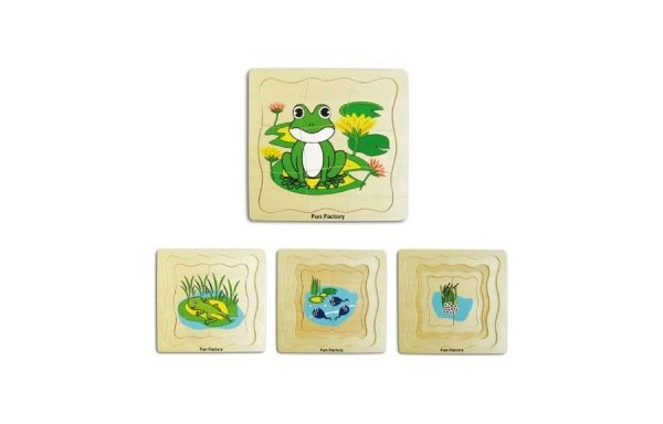Frog Life Cycles Layered Puzzle Set
