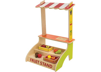 Wooden Fruit Stand with Accessories – 21 pieces