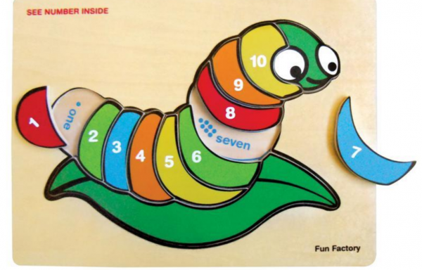 Fun Factory Wooden Puzzle Numbers Silk Worm
