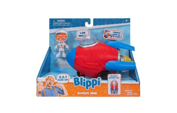 Blippi Rocket Ship Toy Vehicle