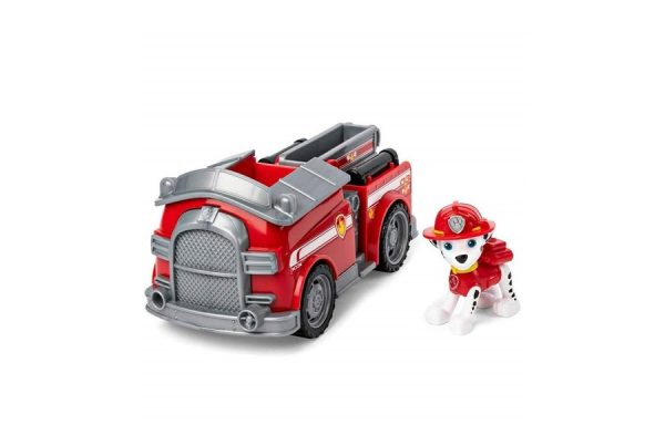 Paw Patrol Marshall Fire Engine Basic Vehicle with Pup