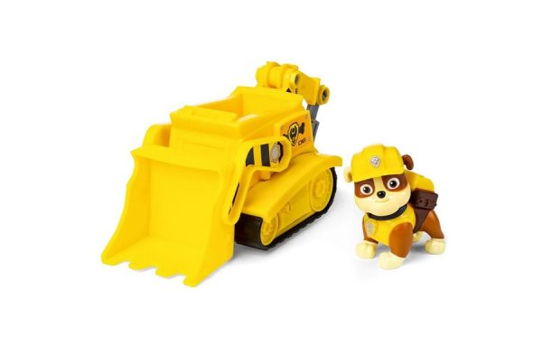 Paw Patrol Rubble Transforming Bulldozer Vehicle with Pup