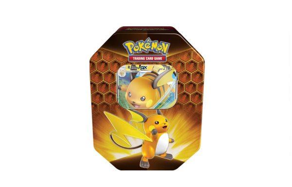 Pokemon TCG Hidden Fates Raichu-GX Tin