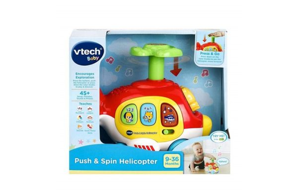 VTech Baby Push And Spin Helicopter Toy