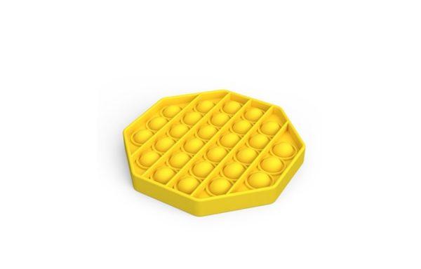 Bubble Pop It Yellow Octagon
