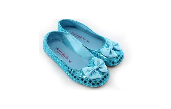 Large Turquoise Sparkle Girls Shoes