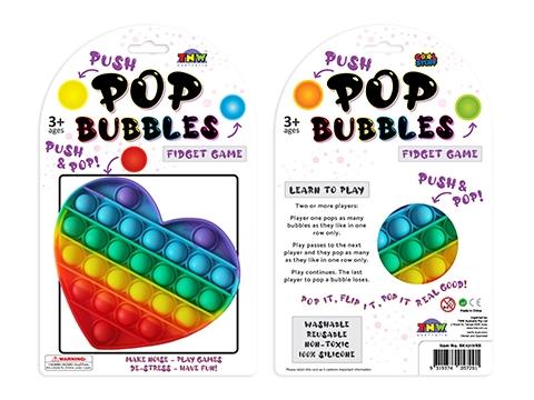 Bubble Pop It Rainbow Heart