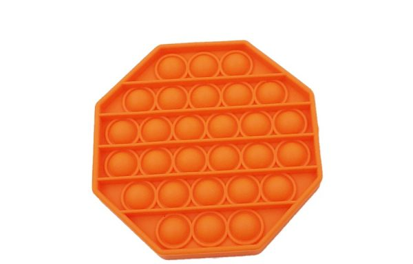 Bubble Pop It Orange Octagon