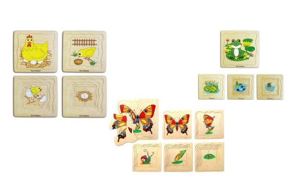 Life Cycles Layered Puzzle Set of 3