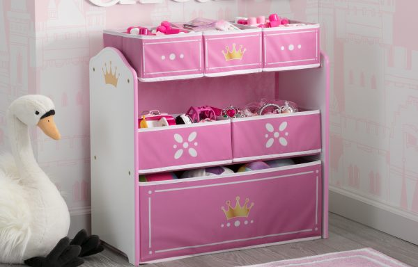 Princess Crown Multi Bin Toy Organiser