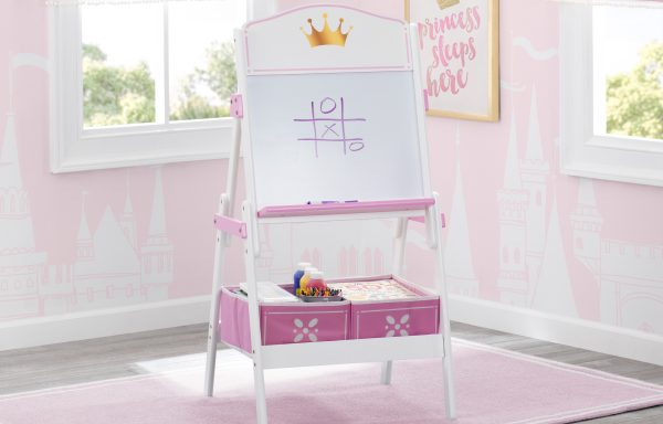 Princess Crown Wooden Activity Easel with Storage