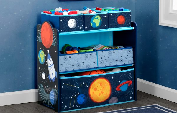 Space Adventures Multi Bin Toy Organizer