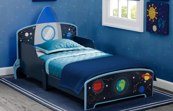 Space Adventures Wood Toddler Bed