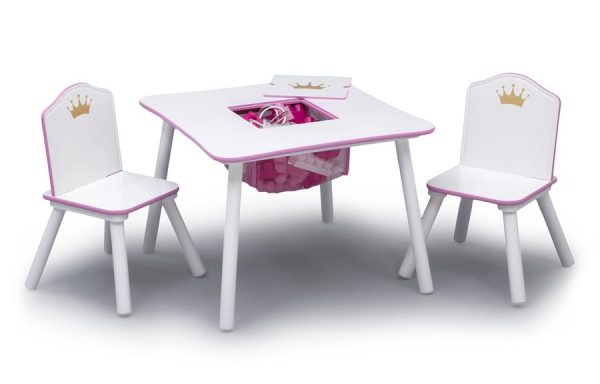 Princess Crown Storage Table and Chair Set