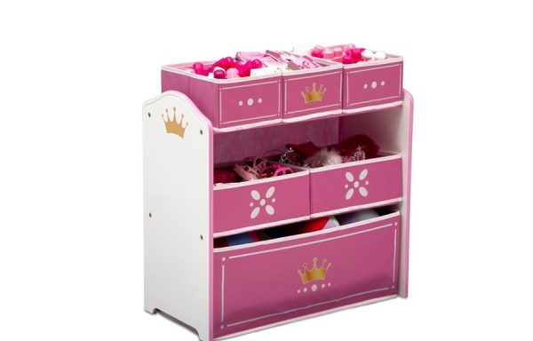 Princess Crown Multi Bin Toy Organiser