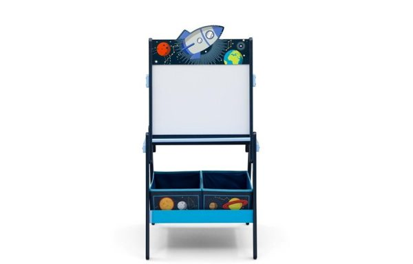 Space Adventures Wooden Activity Easel with Storage