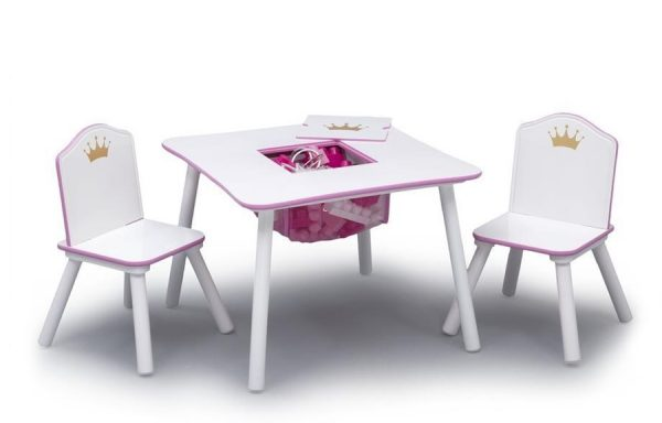 Princess Crown Storage Table and Chair Set