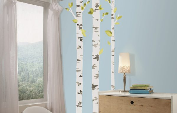 Birch Trees Peel and Stick Giant Wall Decal