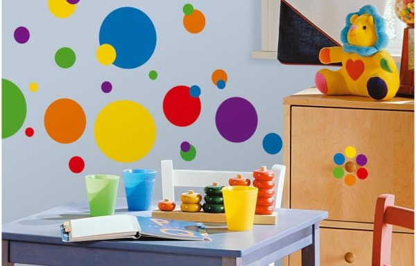 Just Dots Primary Peel & Stick Wall Decal