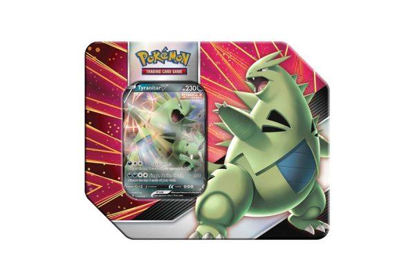 Pre-Order Pokemon TCG: V Strikers Tin Green Tyranitar V
